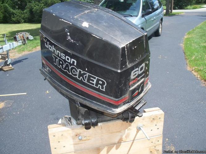 1989 johnson outboard motor pro series 60 hp with power for Power trim motor for johnson outboard