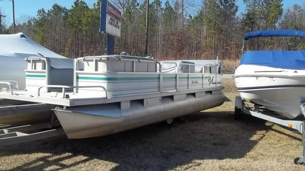 1989 riviera cruiser 24 ft pontoon boat 24 foot 1989 pontoon deck boat in henrico nc
