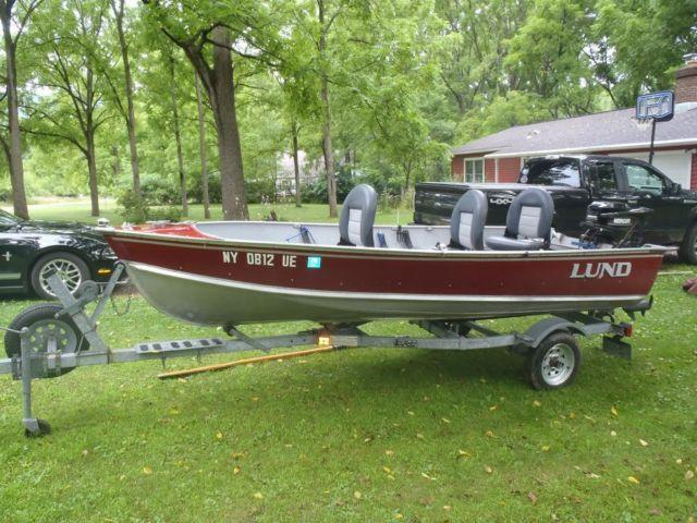 1990 14 39 lund fishing boat 14 foot 1990 fishing boat in for Fishing boats ny