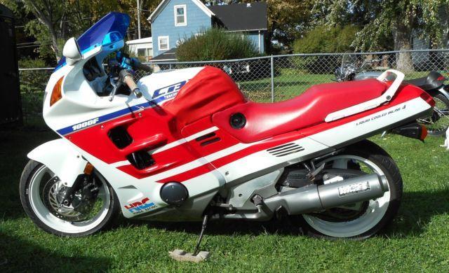 1990 HONDA CBR 1000F HURRICANE MOTORCYCLE RED WHITE BLUE CUSTOM