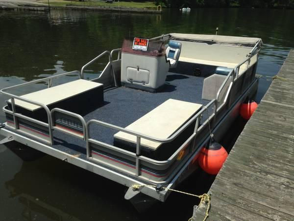 1990 lowes 189 pontoon 18 foot 1990 pontoon deck for Pontoon boat without motor for sale