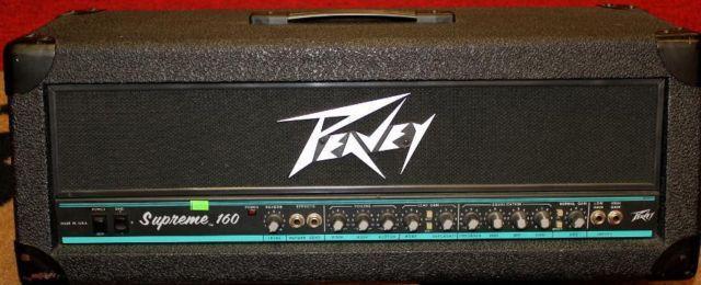 1990 39 s peavey supreme 160 160 watt guitar amplifier head for sale in glen park new york. Black Bedroom Furniture Sets. Home Design Ideas