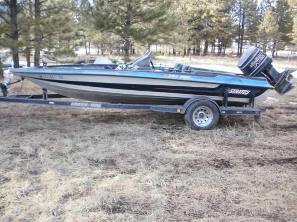 1990 stratos bass fishing boat w evinrude 150 motor for for Bass boats with evinrude motors