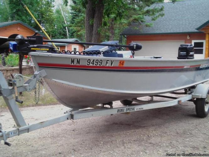 1991 alumacraft lunker v16 ltd fishing boat for sale in for Fishing boats for sale mn