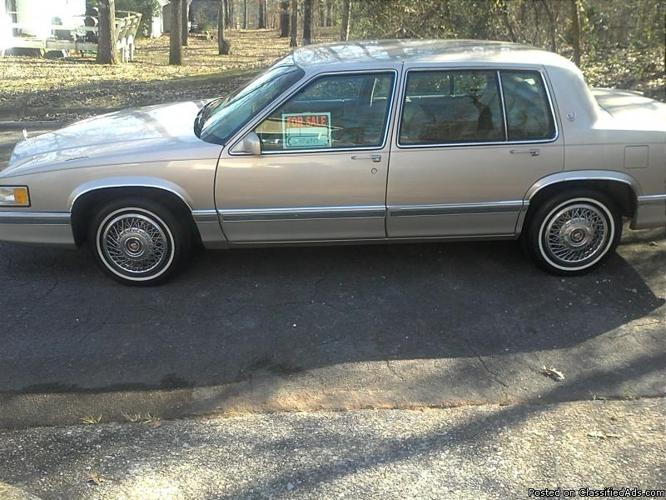 1991 cadillac sedan deville for sale in tuscaloosa. Cars Review. Best American Auto & Cars Review