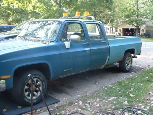 1991 chevy crew cab 3 3 4x4 3500 k30 for sale in south bend indiana classified. Black Bedroom Furniture Sets. Home Design Ideas