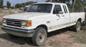 1991 FORD XLT Lariat F250 4 X 4 3/4 Ton Pick Up