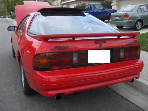 1991 red mazda rx 7 fc 13b coupe 5 speed rx7 99k miles for sale in san jose california. Black Bedroom Furniture Sets. Home Design Ideas