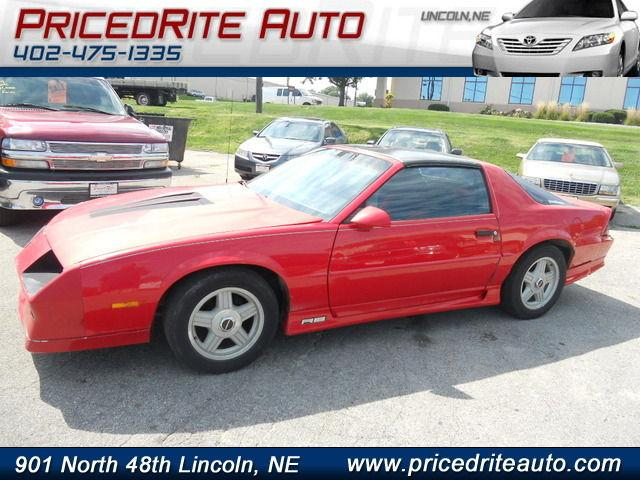 1992 chevrolet camaro rs for sale in lincoln nebraska. Black Bedroom Furniture Sets. Home Design Ideas