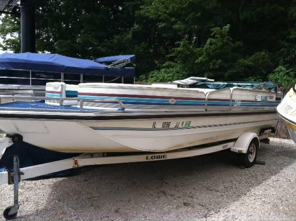 1992 Lowe Deck Boat For Sale In Hillsboro Illinois