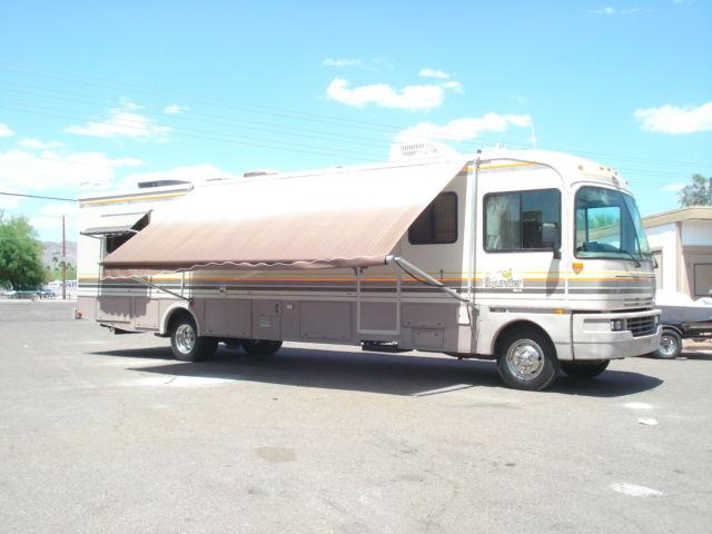 1993 Fleetwood Bounder Diesel Class A Motor Home 35 Ft Sleeps 6 1993 Motorhome In Apache