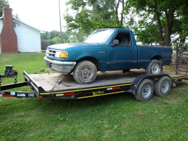1993 ford ranger 2x4 short bed 3.0 5spd parts truck -