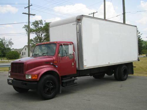 1993 international 4700 20 foot box truck for sale in fort wayne. Black Bedroom Furniture Sets. Home Design Ideas
