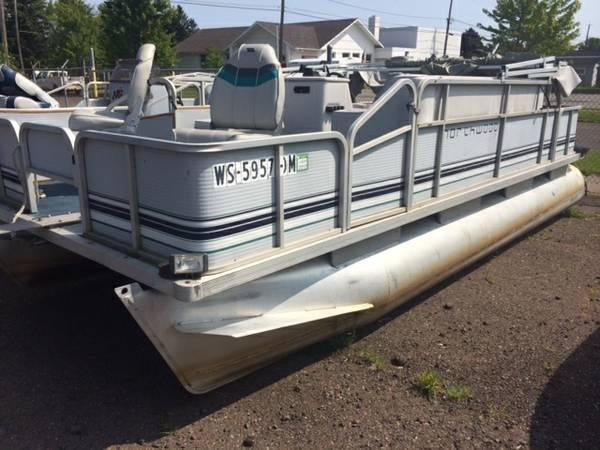 1993 northwoods 20 39 fishing pontoon 20 foot 1993 for Fishing deck boats