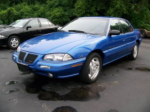 1994 94 Pontiac Grand Am Se Blue  Clean Only 92 K Miles