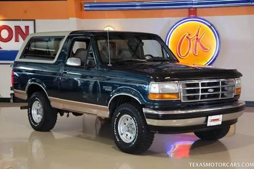 1994 ford bronco eddie bauer 4x4 for sale in addison texas classified. Black Bedroom Furniture Sets. Home Design Ideas
