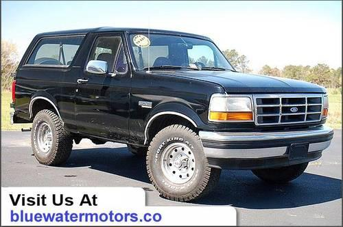 1994 ford bronco suv eddie bauer for sale in grandy north carolina classified. Black Bedroom Furniture Sets. Home Design Ideas