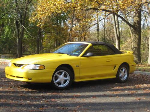 1994 ford mustang gt convertible last year for the 5 0 engine for sale in philadelphia. Black Bedroom Furniture Sets. Home Design Ideas