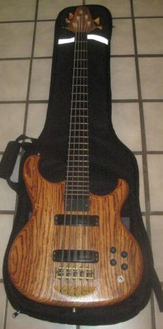 1995 custom alembic 5 string electric bass guitar with gig bag for sale in arlington texas. Black Bedroom Furniture Sets. Home Design Ideas