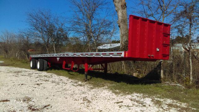 1995 flat bed 48x96 combo spread axle fresh paint $7500