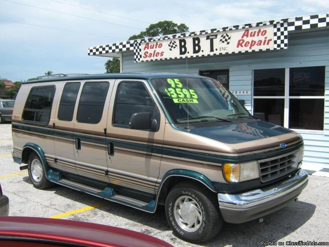 1995 ford e150 conversion van for sale in tarpon springs florida classified. Black Bedroom Furniture Sets. Home Design Ideas
