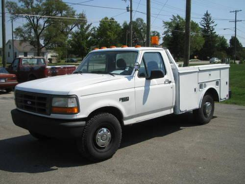 1995 ford f350 xl utility commerical work truck. Black Bedroom Furniture Sets. Home Design Ideas