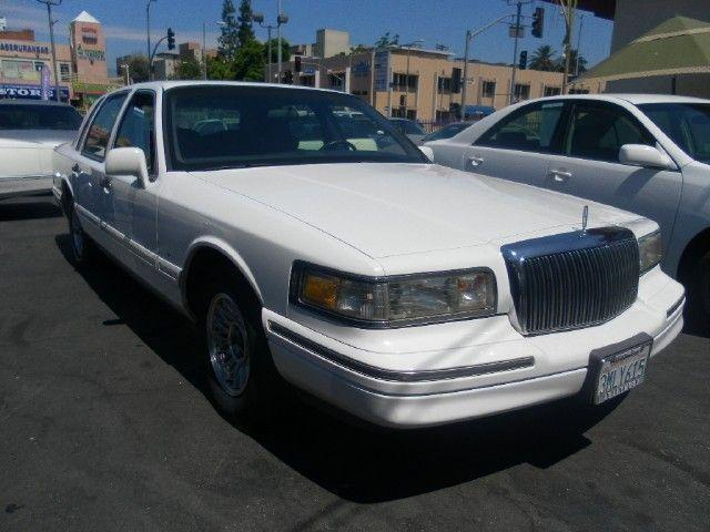 1995 lincoln town car executive for sale in los angeles. Black Bedroom Furniture Sets. Home Design Ideas