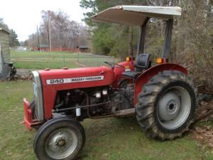 1995 MF 240 Tractor, Bush hog, & Finish Mower - $8500