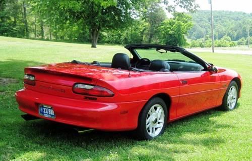 1995 z28 camaro lt1 v8 convertible red auto for sale in. Black Bedroom Furniture Sets. Home Design Ideas