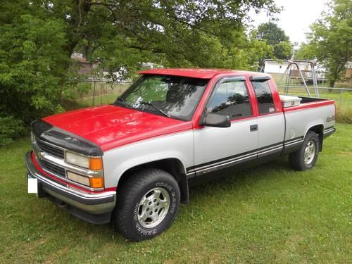 1996 chevy silverado 1500 extended cab 4x4 for sale in mansfield ohio classified. Black Bedroom Furniture Sets. Home Design Ideas