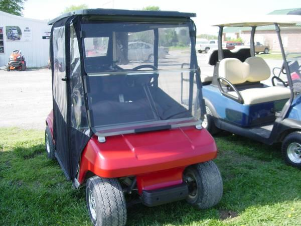 1996 Club Car Ds Red W Enclosure For Sale In Chouteau