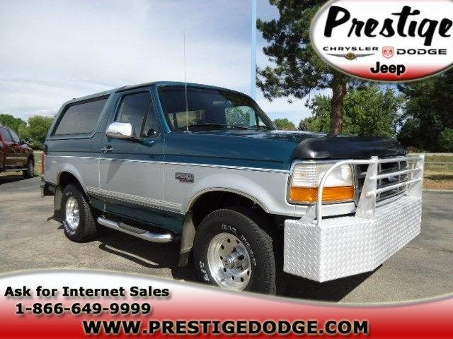 1996 ford bronco xlt for sale in longmont colorado classified. Cars Review. Best American Auto & Cars Review