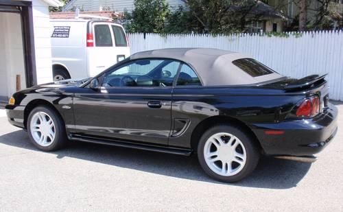 1996 Ford Mustang Gt Convertible Black On 49 500