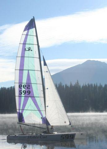 1996 Hobie 20 Catamaran Sailboat With Lots Of Extras For