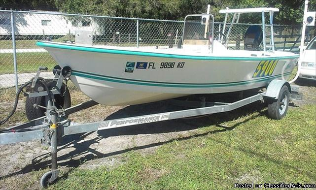 1996 key largo 16 39 center console boat 48hp motor w for Boat motors for sale in florida