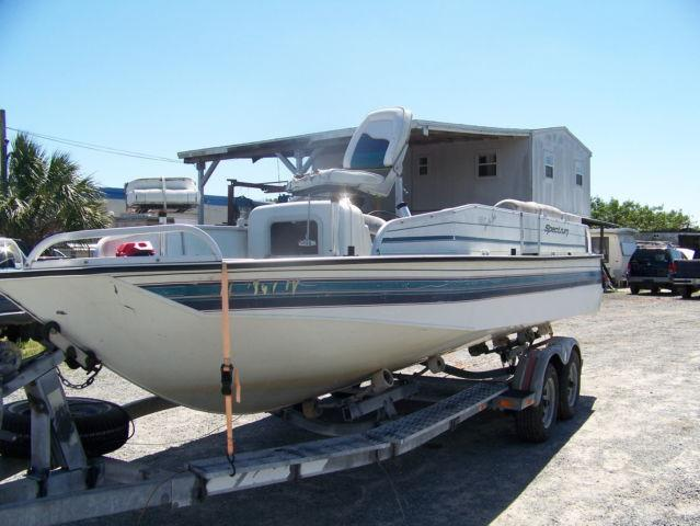 1996 spectra deck boat 20 39 mercury 150 black max for Mercury outboard motors for sale in florida