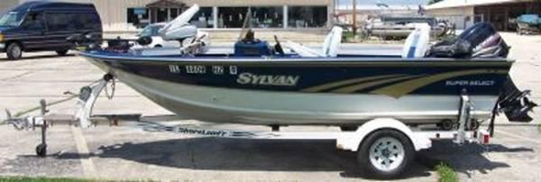 1996 sylvan super select 16 foot fishing boat w mercury for Sylvan fishing boats