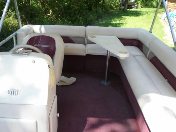1997 18 39 pontoon 40 hp w trailer for sale in findlay ohio classified. Black Bedroom Furniture Sets. Home Design Ideas