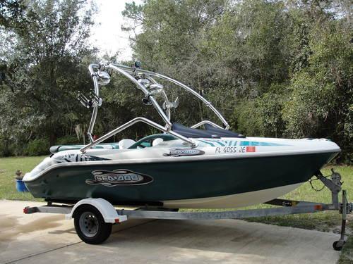 1997 18ft Seadoo Challenger 1800 Bowrider Wakeboard