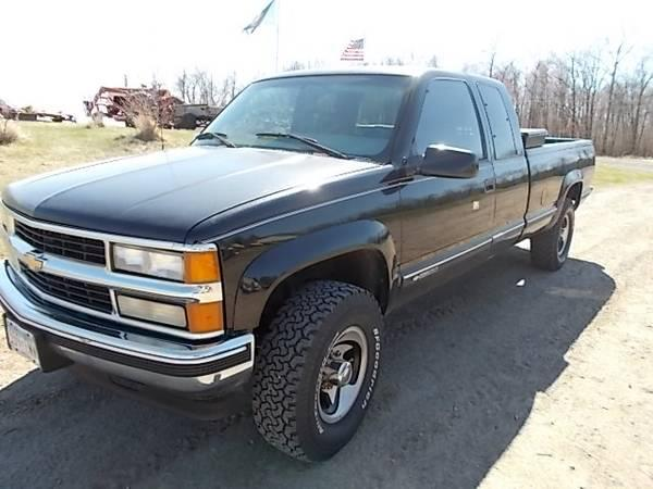 1997 chevy 3 4 4x4 out of state truck no rust for sale in isle minnesota classified. Black Bedroom Furniture Sets. Home Design Ideas