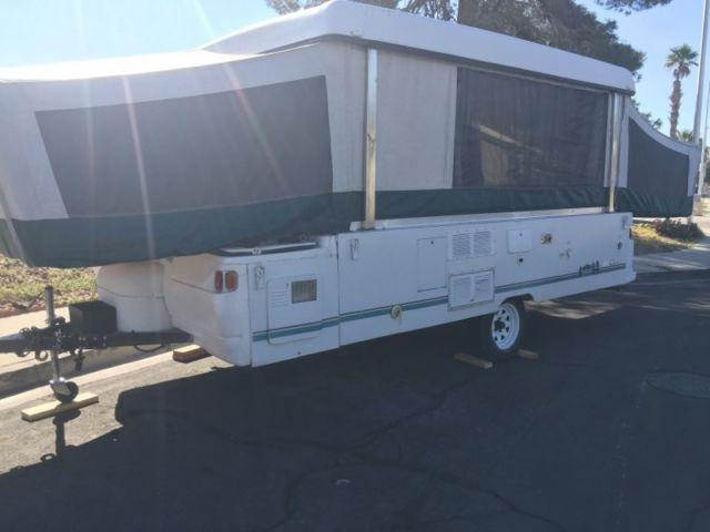 1997 Coleman tent trailer with toilet and shower