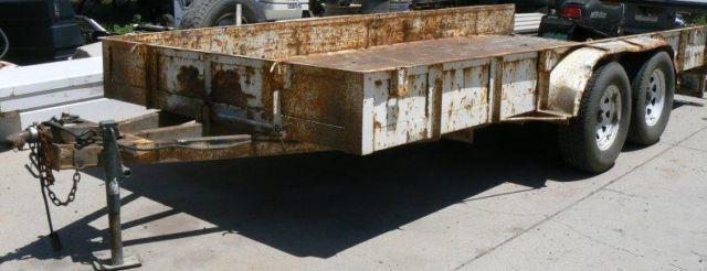 1997 Custom Built 2 Axle 20' Tilt Bed Trailer