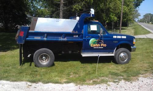 1997 Ford F 350 4x4 Dump Truck 67 5xx Miles A C Man Trans