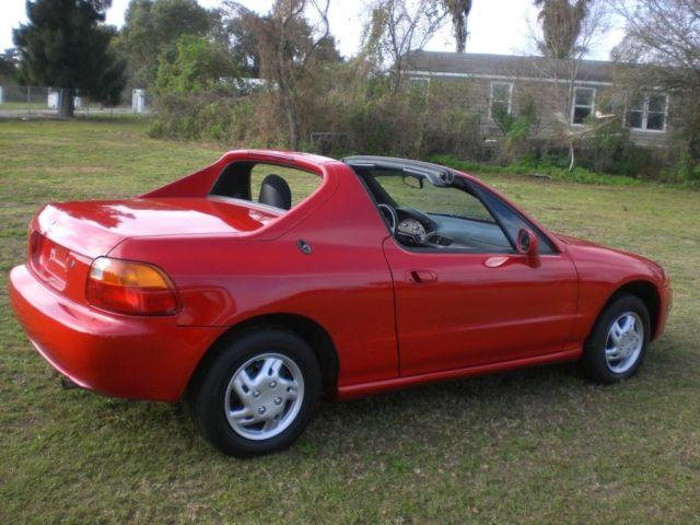1997 honda civic del sol targa convertible 2 seater new red paint for sale in kissimmee florida. Black Bedroom Furniture Sets. Home Design Ideas