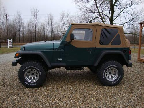 """Lift Kits For Jeeps >> 1997 Jeep Wrangler - 4"""" Lift Kit - 103K Miles - Green - New Soft Top for Sale in Albion, Indiana ..."""