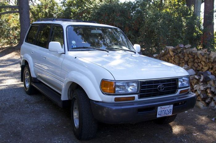 1997 toyota land cruiser white sport utility 4 door low mileage of 113 300 for sale in san. Black Bedroom Furniture Sets. Home Design Ideas