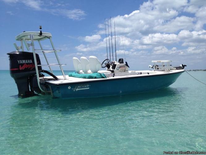 1998 19 39 hewes lighttackle flats boat for sale in port