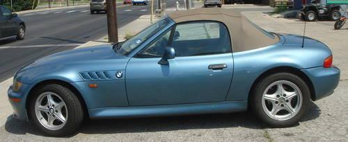 1998 Bmw Z3 Roadster 2 Door Convertible Light Blue Std 122k Miles
