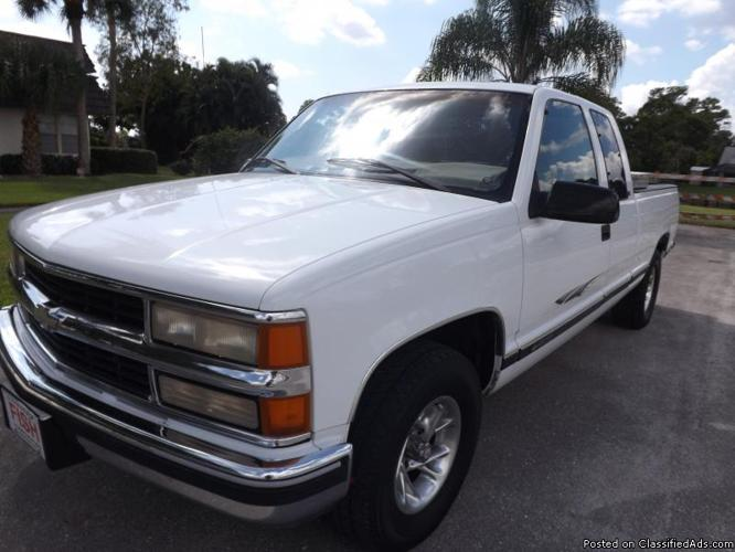 1998 chevrolet silverado 1500 extended cab 3dr one owner for sale in west palm beach florida. Black Bedroom Furniture Sets. Home Design Ideas