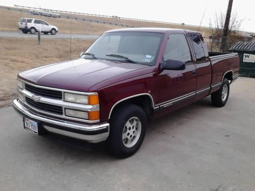 1998 chevy silverado extended cab 3rd door p u for sale in waco texas classified. Black Bedroom Furniture Sets. Home Design Ideas